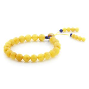 Adult Baltic Amber Bracelet Round Beads 8mm 6gr. AD4