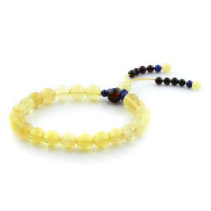 Adult Baltic Amber Bracelet Round Beads 8mm 7gr. AD14