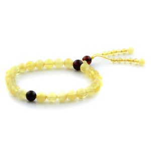 Adult Baltic Amber Bracelet Round Beads 7mm 5gr. AD15