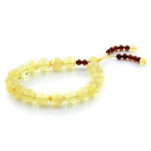 Adult Baltic Amber Bracelet Round Beads 9mm 8gr. AD17