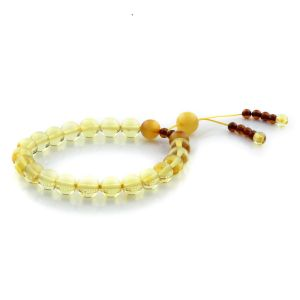 Adult Baltic Amber Bracelet Round Beads 8mm 7gr. AD24
