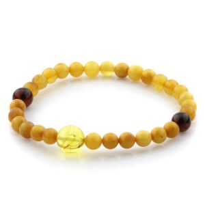 Adult Baltic Amber Bracelet Round Beads 5mm 3gr. AD55
