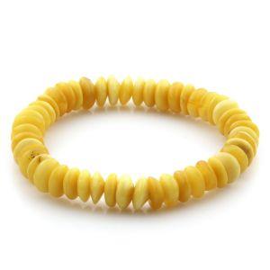 Adult Baltic Amber Bracelet Tablet Beads 8mm 8gr. AD56