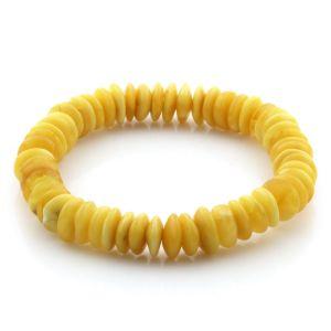 Adult Baltic Amber Bracelet Tablet Beads 9mm 7gr. AD59