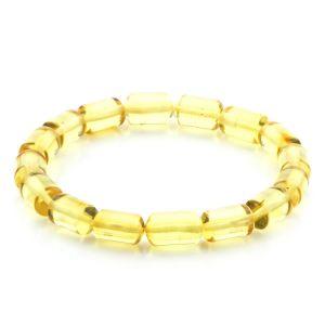 Adult Baltic Amber Bracelet Cylinder Beads 11mm 7gr. AD96