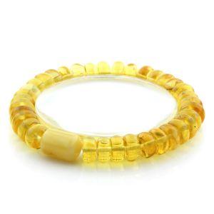 Adult Baltic Amber Bracelet Tablet Cylinder Beads 10mm 11gr. AD101