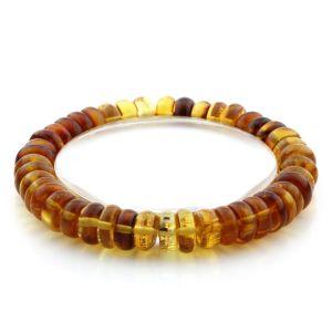 Adult Baltic Amber Bracelet Tablet Beads 10mm 11gr. AD102