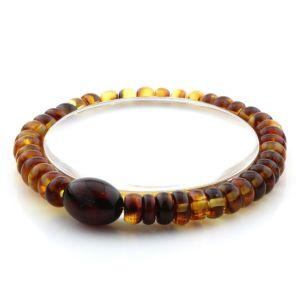 Adult Baltic Amber Bracelet Tablet Olive Beads 7mm 7gr. AD106