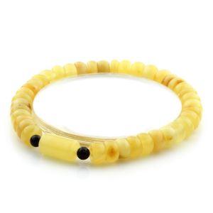 Adult Baltic Amber Bracelet Tablet Cylinder Beads 7mm 6gr. AD107