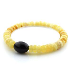 Adult Baltic Amber Bracelet Tablet Beads 7mm 7gr. AD108
