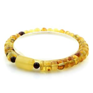Adult Baltic Amber Bracelet Tablet Cylinder Beads 7mm 7gr. AD112