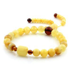 Adult Baltic Amber Bracelet Round Cylinder Beads 7mm 7gr. AD114