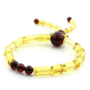 Adult Baltic Amber Bracelet Round Cylinder Beads 12mm 7gr. AD117
