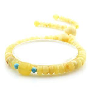 Adult Baltic Amber Bracelet Tablet Cylinder Beads 7mm 8gr. AD135