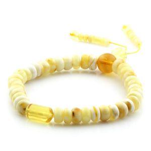 Adult Baltic Amber Bracelet Tablet Cylinder Beads 7mm 7gr. AD136