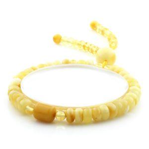 Adult Baltic Amber Bracelet Tablet Cylinder Beads 7mm 7gr. AD142
