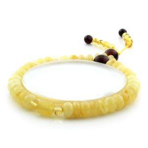 Adult Baltic Amber Bracelet Tablet Cylinder Beads 7mm 7gr. AD148