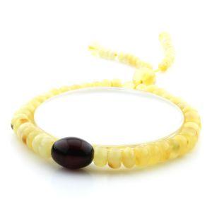 Adult Baltic Amber Bracelet Tablet Olive Beads 7mm 7gr. AD150