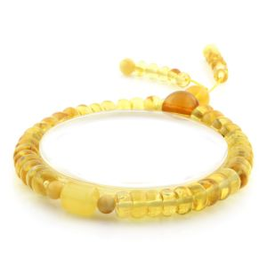 Adult Baltic Amber Bracelet Tablet Cylinder Beads 7mm 8gr. AD157