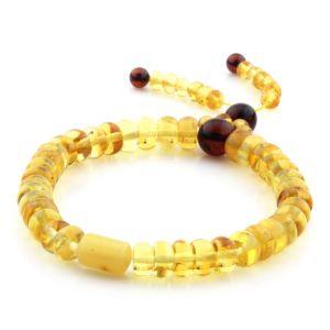 Adult Baltic Amber Bracelet Tablet Cylinder Beads 7mm 7gr. AD158