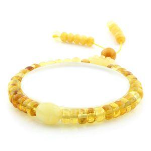 Adult Baltic Amber Bracelet Tablet Olive Beads 7mm 7gr. AD165