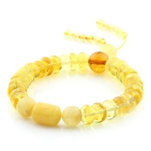 Adult Baltic Amber Bracelet Tablet Cylinder Beads 10mm 12gr. AD166