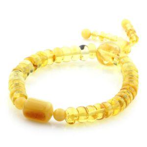 Adult Baltic Amber Bracelet Tablet Cylinder Beads 7mm 8gr. AD167
