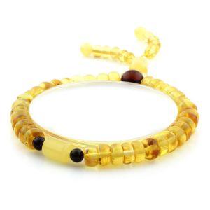 Adult Baltic Amber Bracelet Tablet Cylinder Beads 7mm 7gr. AD172