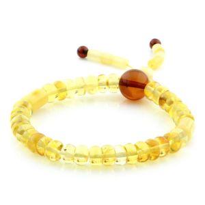 Adult Baltic Amber Bracelet Round Tablet Beads 7mm 8gr. AD177