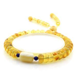 Adult Baltic Amber Bracelet Tablet Cylinder Beads 8mm 10gr. AD200
