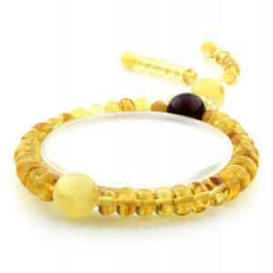 Adult Baltic Amber Bracelet Round Tablet Beads 7mm 9gr. AD203