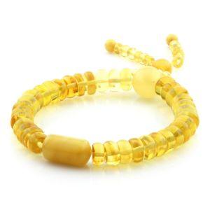 Adult Baltic Amber Bracelet Tablet Cylinder Beads 8mm 10gr. AD205