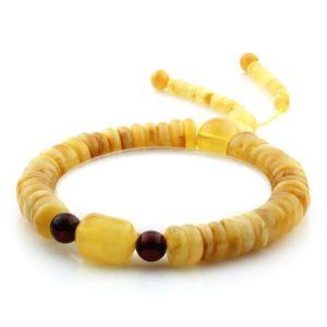 Adult Baltic Amber Bracelet Round Tablet Beads 8mm 10gr. AD208
