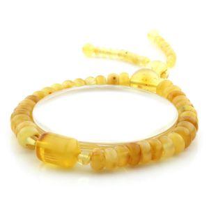 Adult Baltic Amber Bracelet Tablet Cylinder Beads 8mm 10gr. AD209