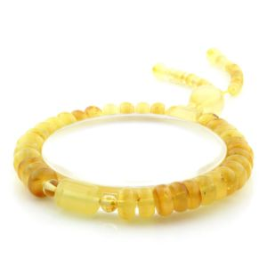 Adult Baltic Amber Bracelet Tablet Cylinder Beads 8mm 10gr. AD211