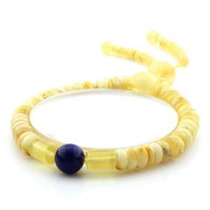 Adult Baltic Amber Bracelet Round Tablet Beads 7mm 10gr. AD218