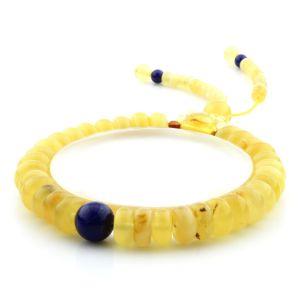 Adult Baltic Amber Bracelet Round Tablet Beads 9mm 12gr. AD219
