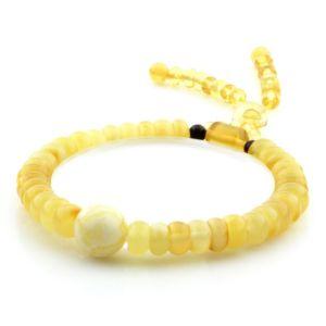 Adult Baltic Amber Bracelet Round Tablet Beads 7mm 8gr. AD222