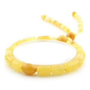 Adult Baltic Amber Bracelet Cylinder Round Beads 12mm 8gr. AD233