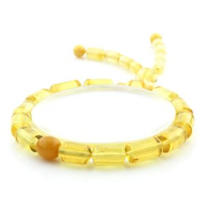Adult Baltic Amber Bracelet Cylinder Round Beads 12mm 8gr. AD240