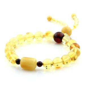 Adult Baltic Amber Bracelet Round Cylinder Beads 8mm 9gr. AD242