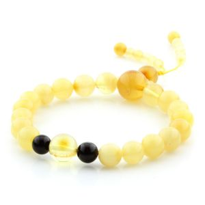 Adult Baltic Amber Bracelet Round Beads 8mm 7gr. AD248