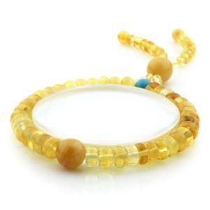 Adult Baltic Amber Bracelet Round Tablet Beads 7mm 8gr. AD259