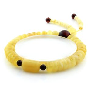 Adult Baltic Amber Bracelet Tablet Cylinder Beads 8mm 10gr. AD269