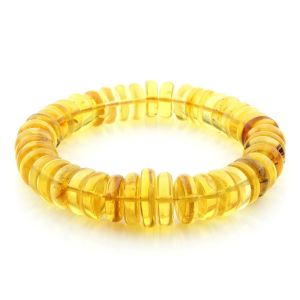 Adult Baltic Amber Bracelet Tablet Beads 12mm 27gr. AD295