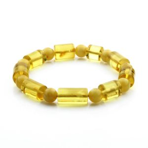 Adult Baltic Amber Bracelet Cylinder Round Beads 15mm 14gr. CB96