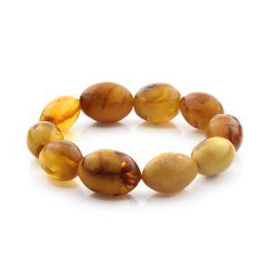 Adult Baltic Amber Bracelet Olive Beads 20mm 26gr. CB193