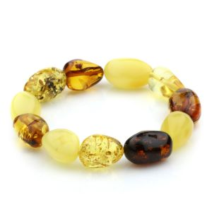 Adult Baltic Amber Bracelet Olive Beads 12mm 16gr. JNR12
