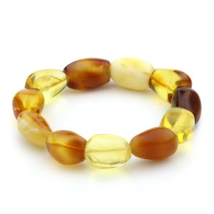 Adult Baltic Amber Bracelet Olive Beads 14mm 19gr. JNR25