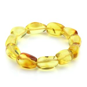 Adult Baltic Amber Bracelet Olive Beads 14mm 19gr. JNR27